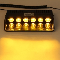 (AMBER) DASH MOUNT FLASHING STROBE WARNING LIGHT