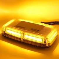 12V MAGNET MOUNT ROOF EMERGENCY STROBE - AMBER (YELLOW)